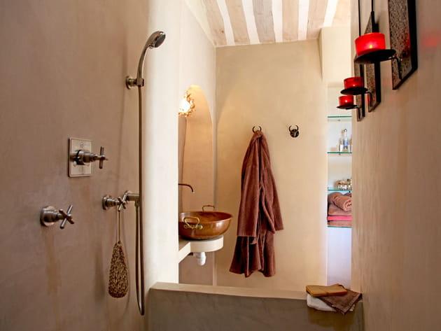 Salle de bains béton ciré