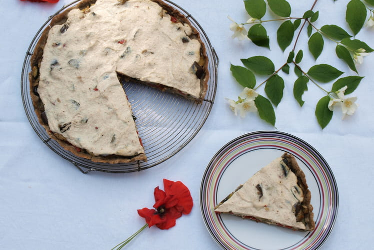 Tarte sans gluten au sarrasin, légumes du soleil