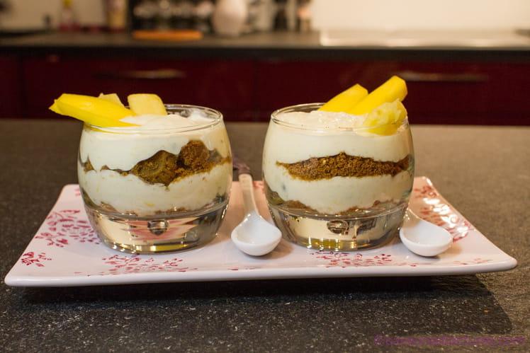 Cheesecake sans cuisson aux fruits exotiques curd façon trifle
