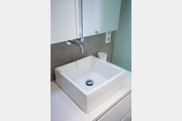 Une vasque joliment mise en valeur