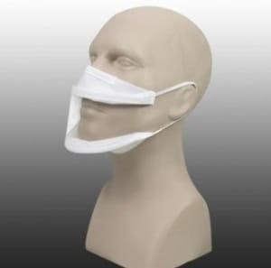 masque transparent covid