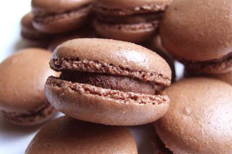 Macarons au chocolat express
