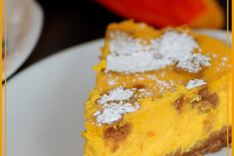 Cheesecake au potimarron et spéculoos