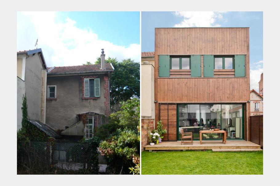 Extension d'une maison : avant-après