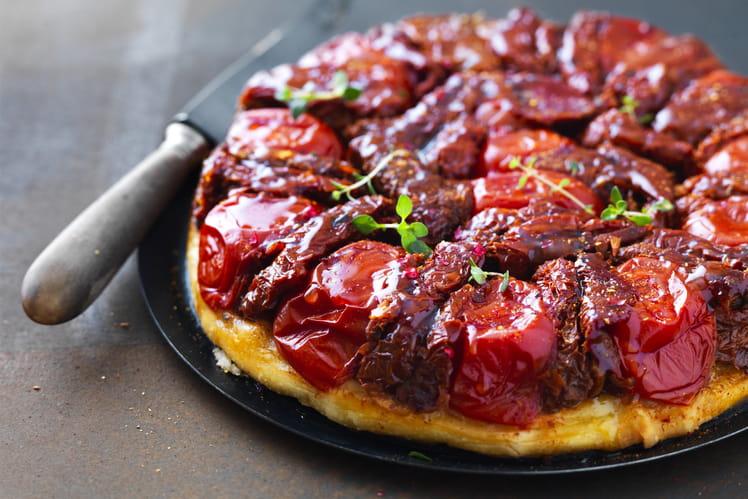 Tarte tatin aux tomates séchées