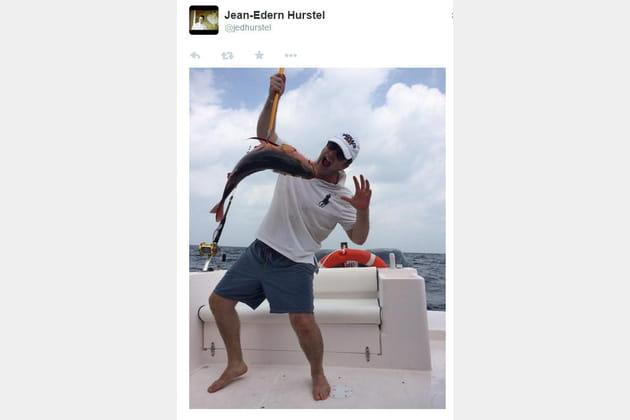 Jean-Edern Hurstel a la pêche