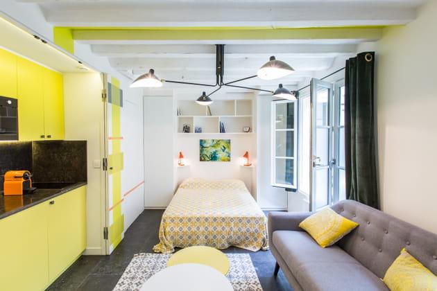 Lumineuses peintures vert et jaune