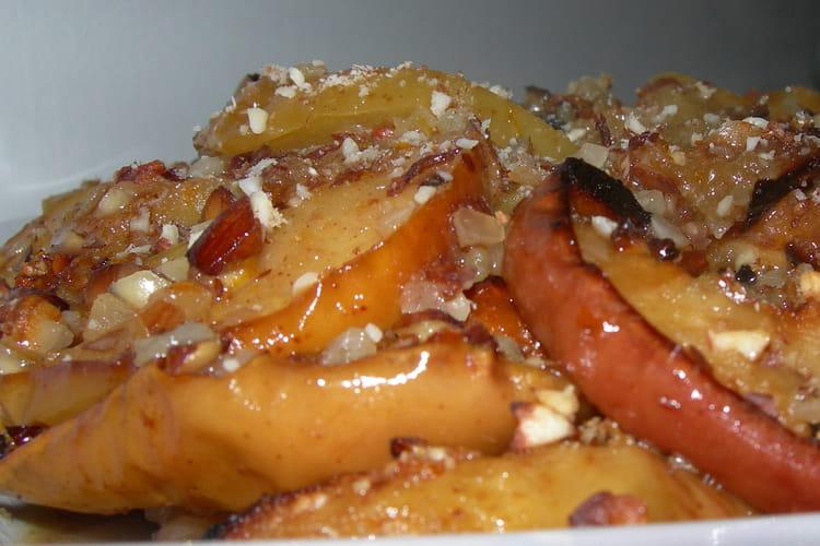 Pommes aux amandes et miel