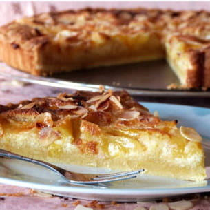 tarte aux prunes jaunes et amandes