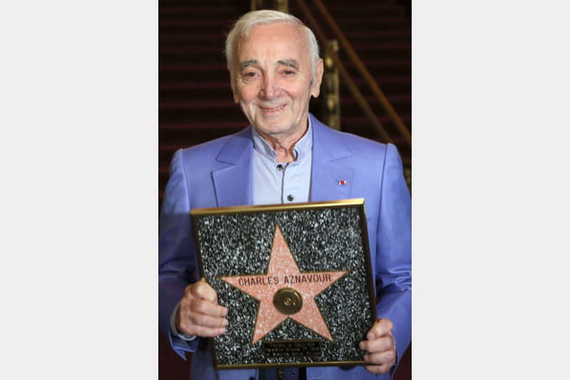 Charles Aznavour, étoilé à Hollywood
