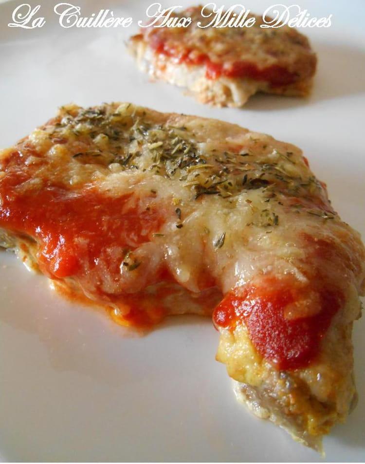 Recette de c te de porc gratin e tomate comt la - Cuisiner des cotes de porc ...