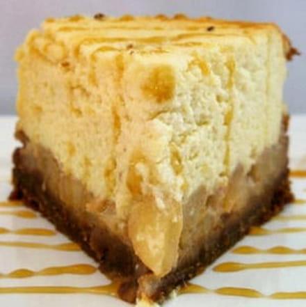 cheesecake aux poires caramélisées
