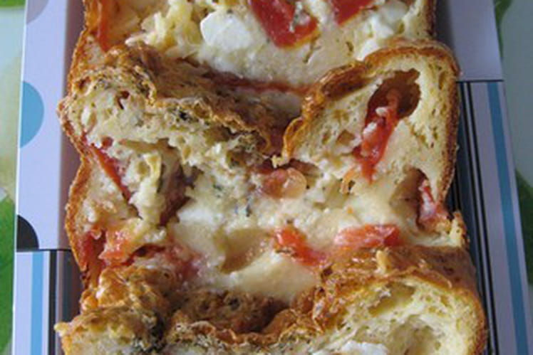 Cake tomates chèvre frais