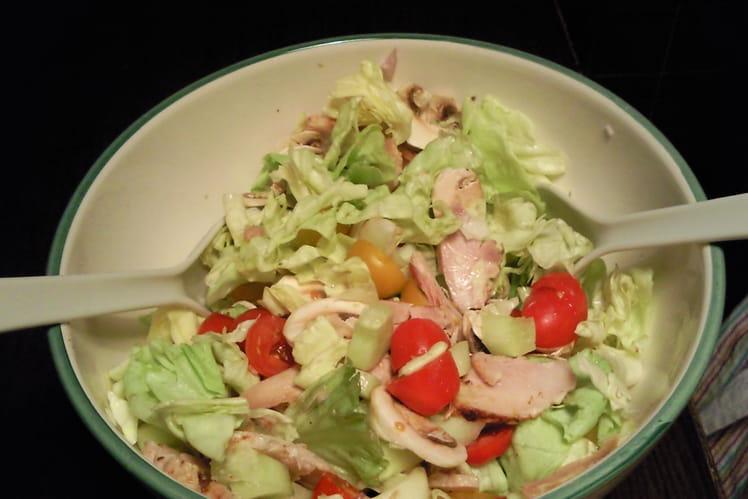 Salade Poulet Champignons de Paris