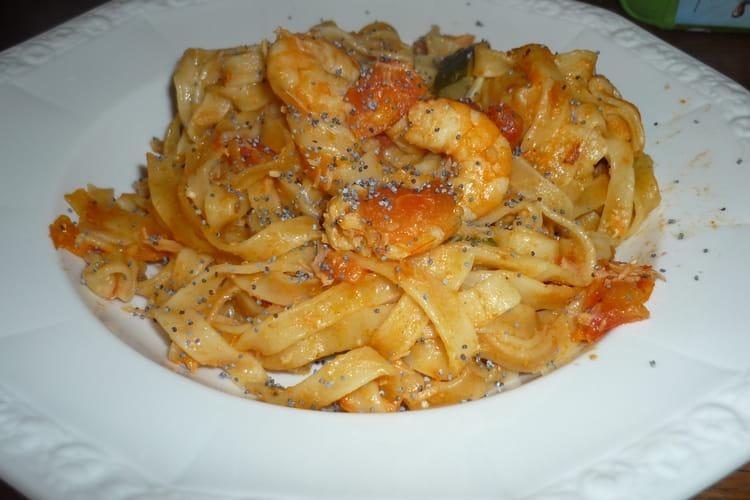 One pot pasta de saumon et crevettes