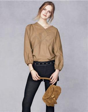 la blouse, le short et la pochette de vanessa bruno pour la redoute