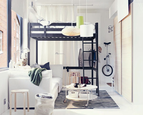 cadre de lit mezzanine stora d 39 ikea. Black Bedroom Furniture Sets. Home Design Ideas
