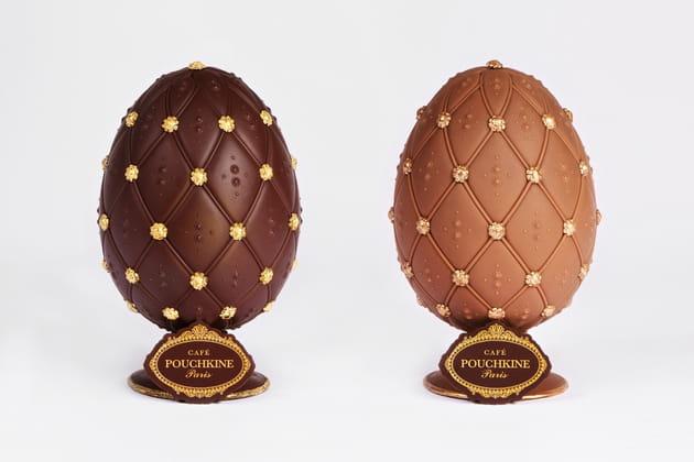 Les œufs facettes de Café Pouchkine