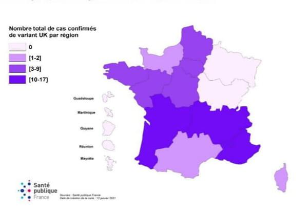 carte variant anglais en france