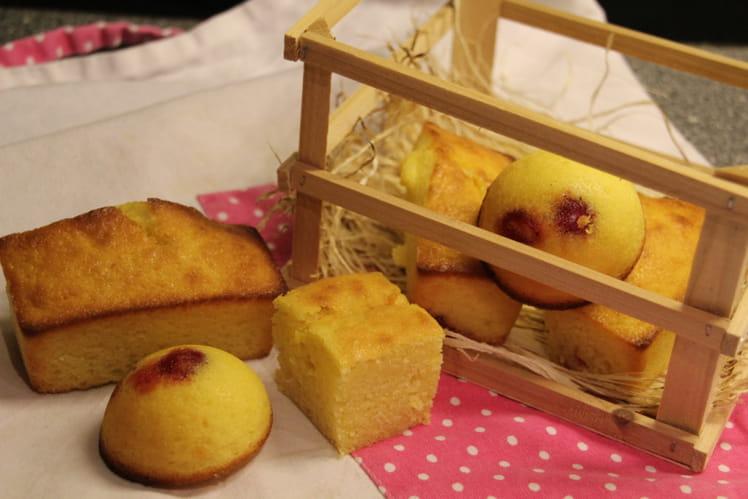 Cakes au citron et cerises confites