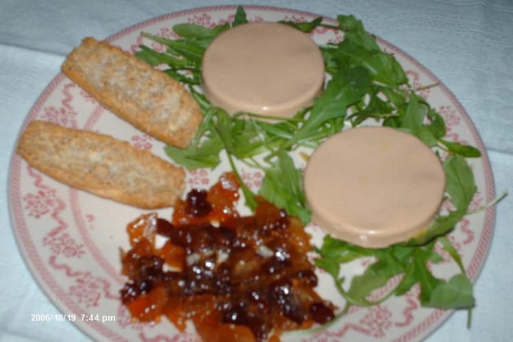 Foie gras au chutney pomme-raisin