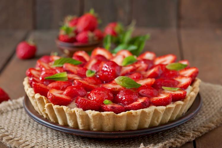Tarte aux fraises et crème pâtissière parfum vanille