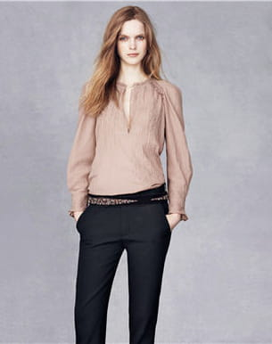 la blouse dentelles et broderies et le pantalon en crêpe de vanessa bruno pour