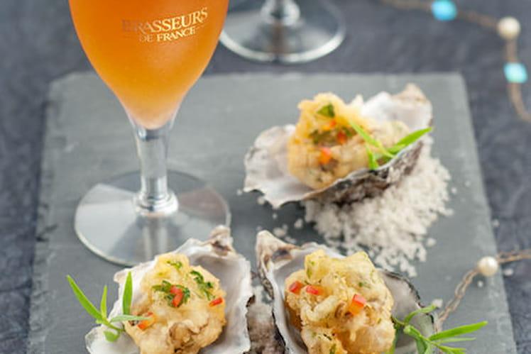 Beignets d'huîtres aux herbes