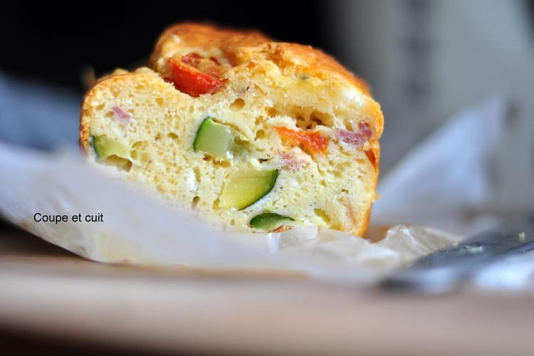 Cake aux courgettes, tomates cerises, chèvre....