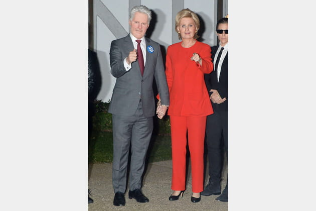 Katy Perry et Orlando Bloom en Hillary et Bill Clinton