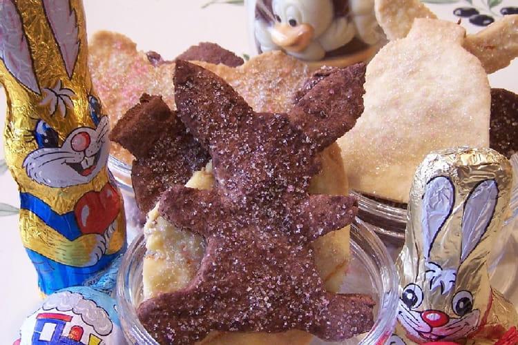Sablés de Pâques vanille, orange, chocolat