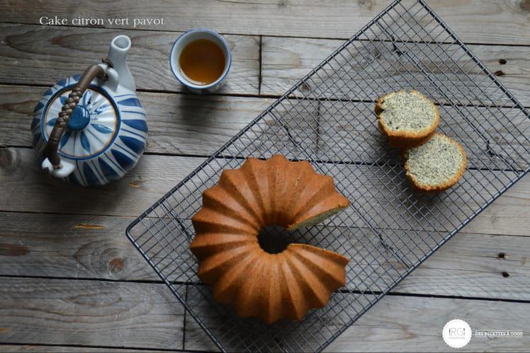 Cake au citron vert pavot
