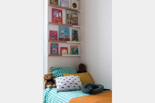 Tête de lit bibliothèque
