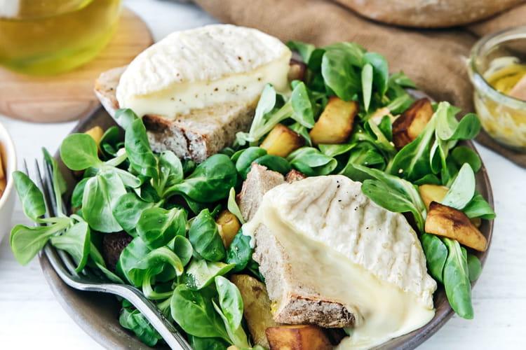 Salade de mâche & betterave Florette, pommes de terre sautées