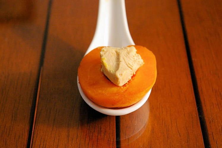 Cuillère abricot et foie gras
