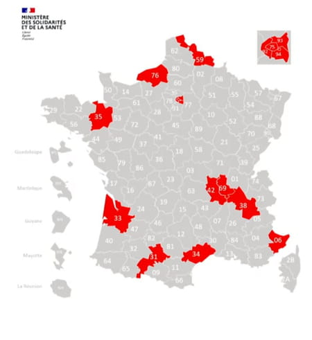 carte rouge covid départements