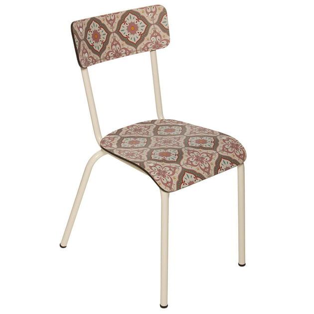 La chaise carreaux de ciment
