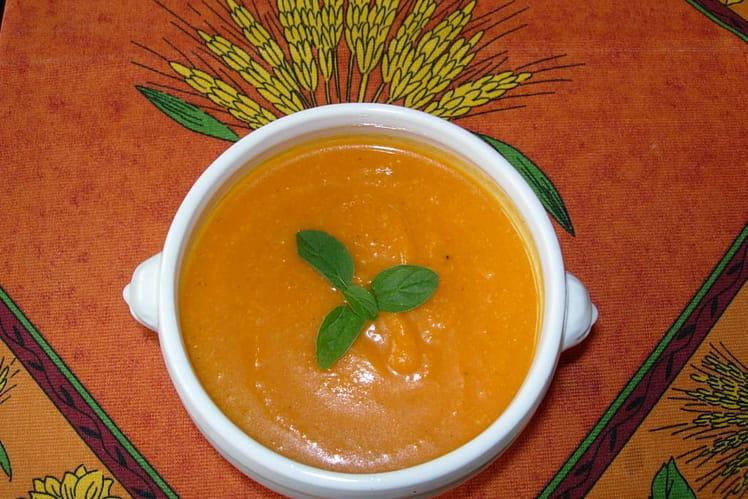 Soupe au potiron et curry