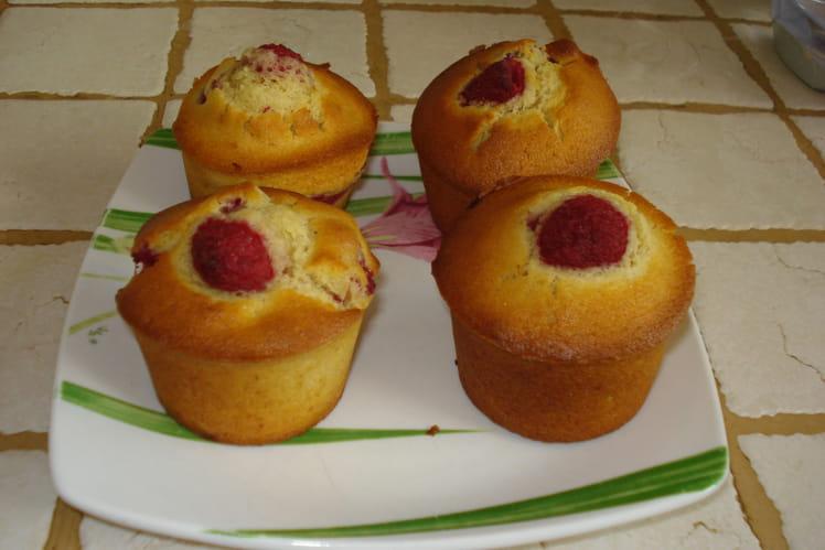 Muffins aux framboises rapides