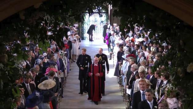 L'arrivée de Harry et William en la chapelle Saint-George