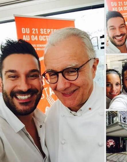 Denny Imbroisi et Alain Ducasse sur les rails