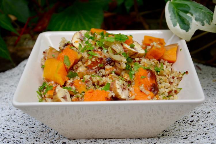 Salade gourmande de quinoa au potimarron