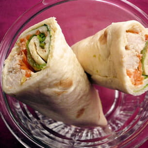 chicken tortilla wrap