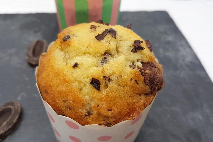 Muffins chocolat au lait et grué de cacao
