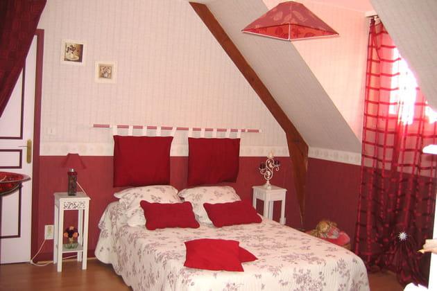 La chambre d'Agnès, couleurs Saint-Valentin