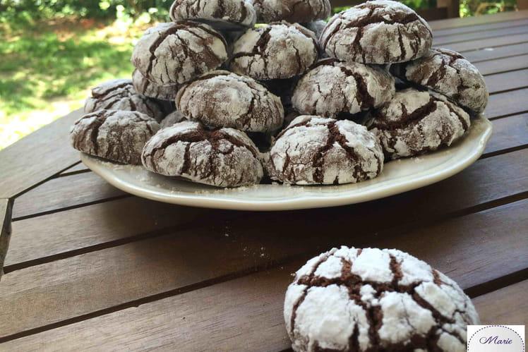 Cookies crinckle au Chocolat