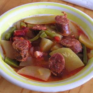 ragoût de pommes de terre au chorizo façon carmen