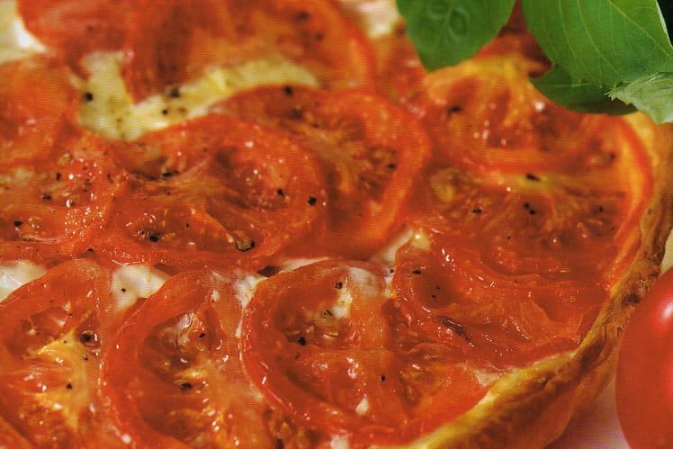 Tarte thon et tomates au basilic