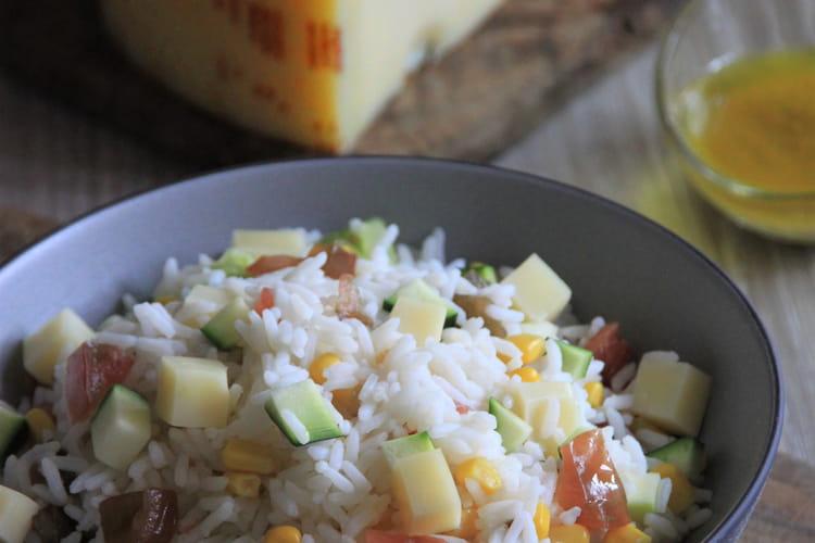 Salade de riz à l'Emmental de Savoie