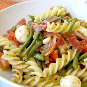 salade de fusilli aux couleurs d'italie
